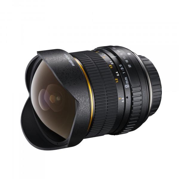 Walimex Pro 8mm 1:3, 5 DSLR Fish-Eye-Objektiv für Nikon AE Objektivbajonett-310