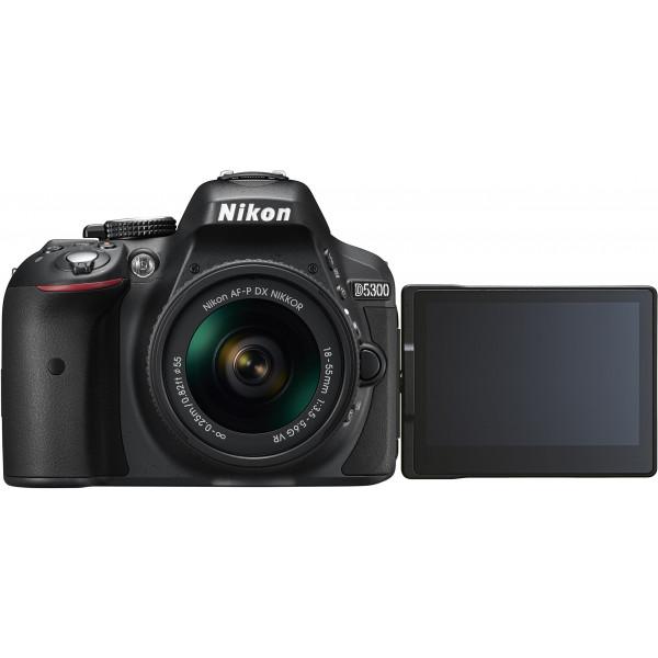 Nikon D5300 SLR-Digitalkamera Kit DX AF-P 18-55 VR schwarz-34
