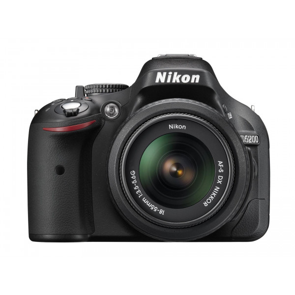 Nikon D5200 SLR-Digitalkamera (24,1 Megapixel, 7,6 cm (3 Zoll) TFT-Display, Full HD, HDMI) Kit inkl. AF-S DX 18-55 mm II Objektiv schwarz-320