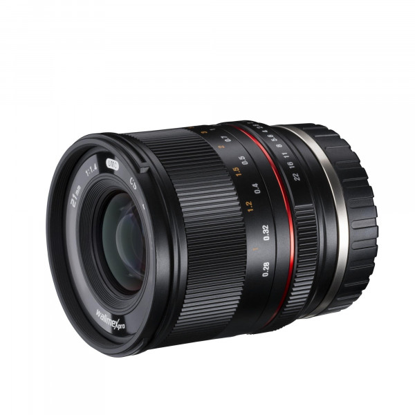 Walimex Pro 21137 21/1,4 CSC Objektiv für MFT Bajonett-36