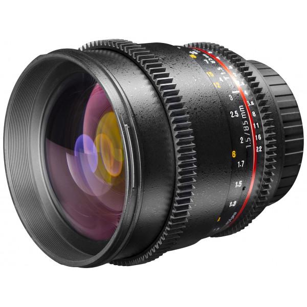 Walimex Pro 85mm 1:1,5 VDSLR Video/Fotoobjektiv fürmicro Four Thirds Objektivbajonett (Filtergewinde 72mm, Zahnkranz, stufenlose Blende/Fokus, IF) schwarz-36