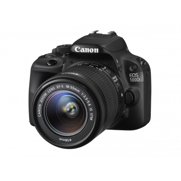 Canon EOS 100D SLR-Digitalkamera (18 Megapixel, 7,6 cm (3 Zoll) Touchscreen, Full HD, Live-View) Kit inkl. EF-S 18-55mm 1:3,5-5,6 IS STM-312