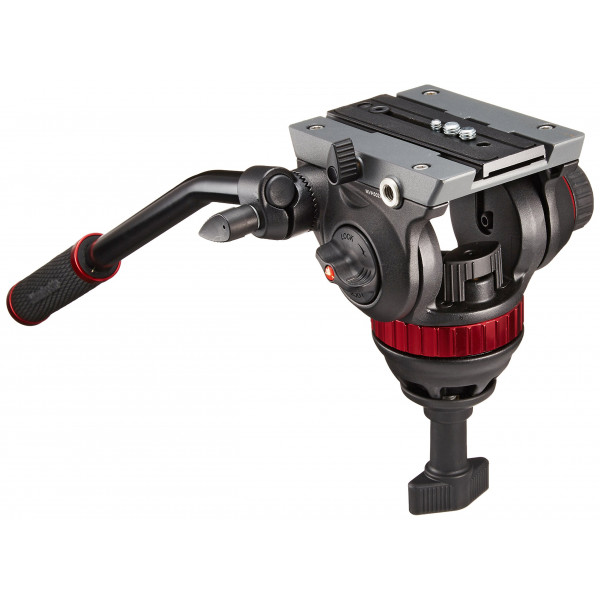Manfrotto MVH502A Pro Fluid Video Neiger mit 75 mm Halbkugel und 504PL-32