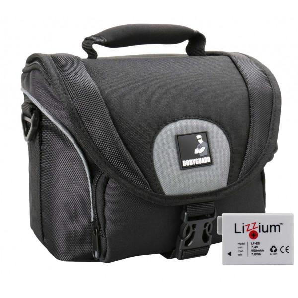 EOS Bundle Tasche für CANON EOS 550D 600D 650D 700D +Qualitäts Ersatzakku LP-E8 Fototasche-38