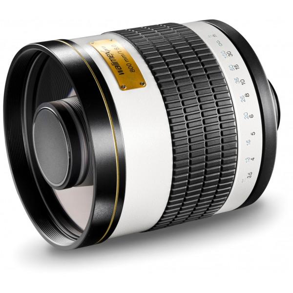 Walimex Pro 800mm 1:8,0 CSC Spiegelobjektiv (Filtergewinde 35mm) für Nikon 1 Objektivbajonett weiß-35