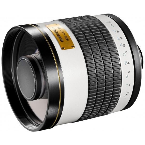 Walimex Pro 800mm 1:8,0 CSC Spiegelobjektiv (Filtergewinde 35mm) für Samsung NX Objektivbajonett weiß-35