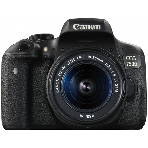 Canon EOS 750D SLR-Digitalkamera (24 Megapixel, APS-C CMOS-Sensor, WiFi, NFC, Full-HD) Kit inkl. 2x Objektive EF-S 18-55mm 1:3,5-5,6 IS STM und EF-S 55-250 1:4-5,6 IS STM schwarz-311