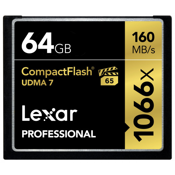 Lexar Professional 64GB 1066x Speed 160MB/s CompactFlash Speicherkarte-32