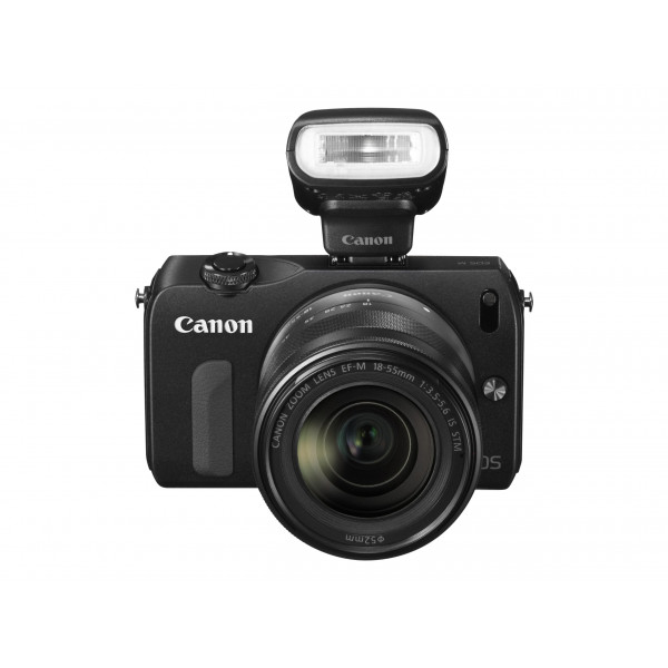 Canon EOS M Systemkamera (18 Megapixel, 7,6 cm (3 Zoll) Display, Full HD, Touch-Display) Kit inkl. EF-M 18-55mm 1:3,5-5,6 IS STM Objektiv und Speedlite 90EX schwarz-35