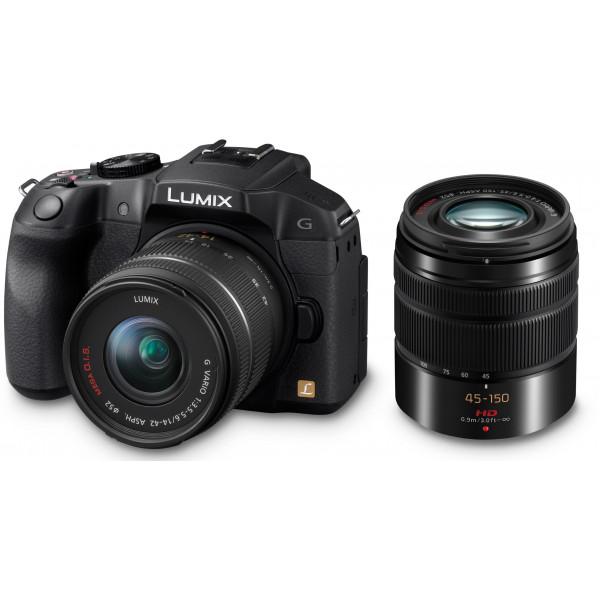 Panasonic Lumix DMC-G6WEG-K Systemkamera (16 Megapixel, 7,6 cm (3 Zoll) Touchscreen, WiFi, NFC) mit Objektiv Lumix G 14-42mm/F3,5-5,6 OIS und 45-150mm/F4,0-5,6 OIS schwarz-34