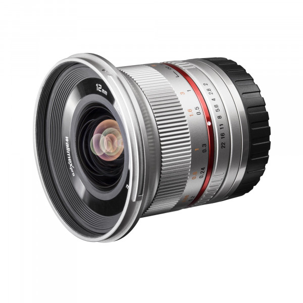 Walimex Pro 12 mm 1:2,0 CSC-Weitwinkelobjektiv für Sony E-Mount Objektivbajonett silber-38