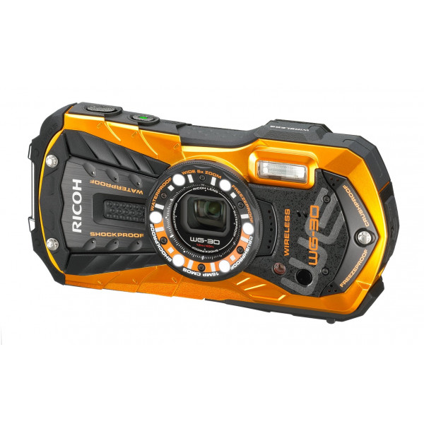Ricoh WG-30W Digitalkamera (16 Megapixel, 5x opt. Zoom, 7,2x dig. Zoom, 6,9 cm (2,7 Zoll) Display, HDMI, WiFi, USB 2.0) orange-312