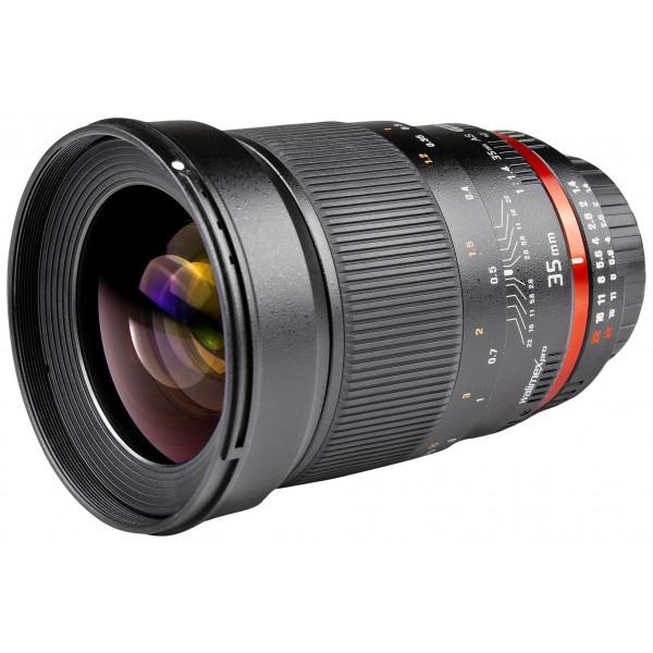 Walimex Pro 35mm 1:1,4 CSC-Objektiv (Filtergewinde 77mm, Gegenlichtblende, IF, AS-Linsen) für Nikon 1 Objektivbajonett schwarz-39