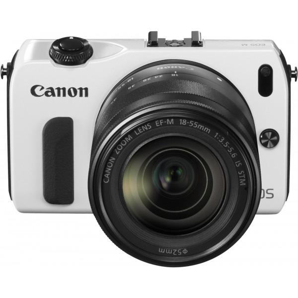 Canon EOS M kompakte Systemkamera (18 Megapixel, 7,6 cm (3 Zoll) Display, Full HD, Touch-Display) Kit inkl. EF-M 18-55mm 1:3,5-5,6 IS STM und Speedlite 90EX weiß-310