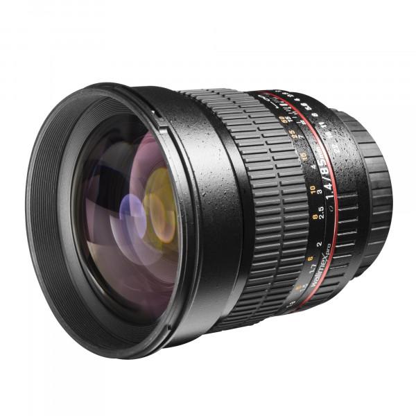 Walimex Pro 85mm 1:1,4 DSLR-Objektiv (Filtergewinde 72mm, IF, AS und ED-Linsen) für Sony A Objektivbajonett schwarz-34