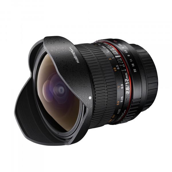 Walimex Pro 12mm f/2,8 Fish-Eye Objektiv DSLR für Sony E-Mount Bajonett schwarz-36