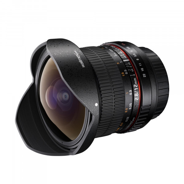 Walimex Pro 12mm f/2,8 Fish-Eye Objektiv DSLR für Mikro Four Thirds Bajonett schwarz-36