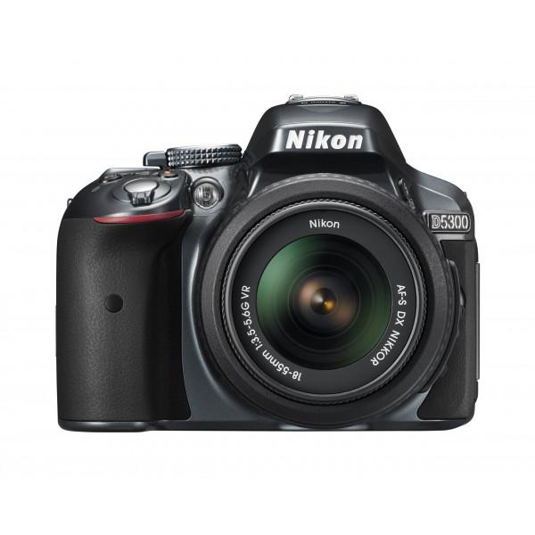 Nikon D5300 SLR-Digitalkamera (24,2 Megapixel, 8,1 cm (3,2 Zoll) LCD-Display, Full HD, HDMI, WiFi, GPS, AF-System mit 39 Messfeldern) Kit inkl. AF-S DX 18-55 VR Objektiv anthrazit-35
