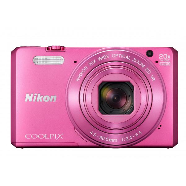 Nikon Coolpix S7000 Digitalkamera (16 Megapixel, 20-fach opt. Zoom, 7,6 cm (3 Zoll) LCD-Display, USB 2.0, bildstabilisiert) pink-39