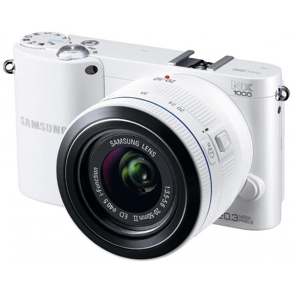 Samsung NX1000 Systemkamera (20 Megapixel, 7,6 cm (3 Zoll) Display) inkl. 20-50mm F3.5-5.6 ED II Objektiv weiß-32