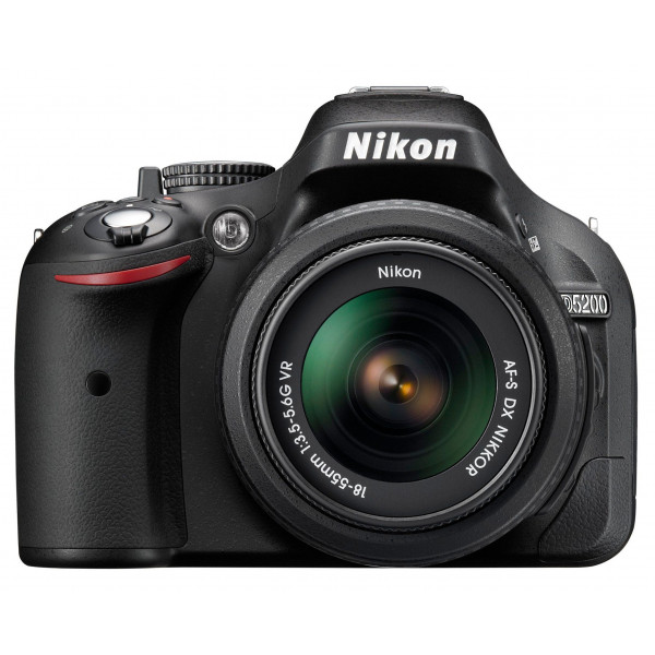 Nikon D5200 SLR-Digitalkamera (24,1 Megapixel, 7,6 cm (3 Zoll) TFT-Display, Full HD, HDMI) Kit inkl. AF-S DX 18-55 mm VR Objektiv schwarz-320