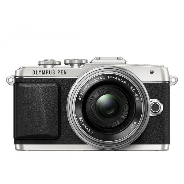 Olympus PEN E-PL7 Kompakte Systemkamera (16 Megapixel, elektrischer Zoom, Full HD, 7,6 cm (3 Zoll) Display, Wifi) inkl. 14-42 mm Pancake Objektiv silber/silber-325