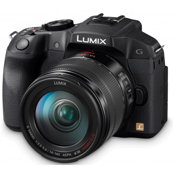 Panasonic Lumix Kompakte Systemkamera 7,62 cm (3 Zoll), 16 Megapixel, 4-facher optischer Zoom, USB + Objektiv 14 140 mm, F 3,5 5,6 (DMC-G6HEF-K), Schwarz-31