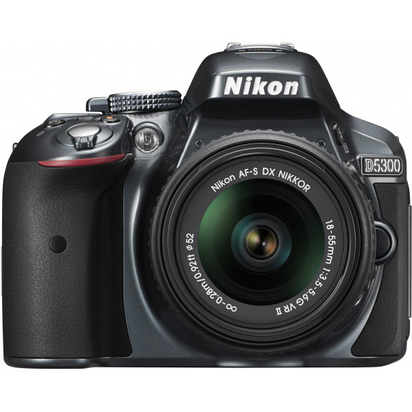 Nikon D5300 SLR-Digitalkamera (24,2 Megapixel, 8,1 cm (3,2 Zoll) LCD-Display, Full HD, HDMI, WiFi, GPS, AF-System mit 39 Messfeldern) Kit inkl. AF-S DX 18-55 VR II Objektiv anthrazit-33