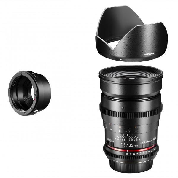 Walimex Pro 35mm 1:1,5 VCSC Foto und Videoobjektiv (Filtergewinde 77mm) für Nikon 1 Objektivbajonett schwarz-36