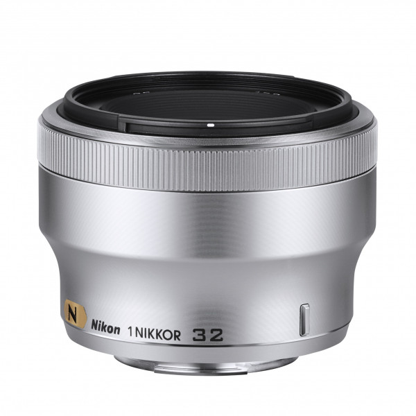 Nikon 1 Nikkor-Objektiv 32mm 1:1,2 (52mm Filtergewinde) silber-32
