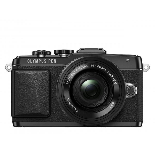 Olympus PEN E-PL7 Kompakte Systemkamera (16 Megapixel, elektrischer Zoom, Full HD, 7,6 cm (3 Zoll) Display, Wifi) inkl. 14-42 mm Pancake Objektiv schwarz/schwarz-38