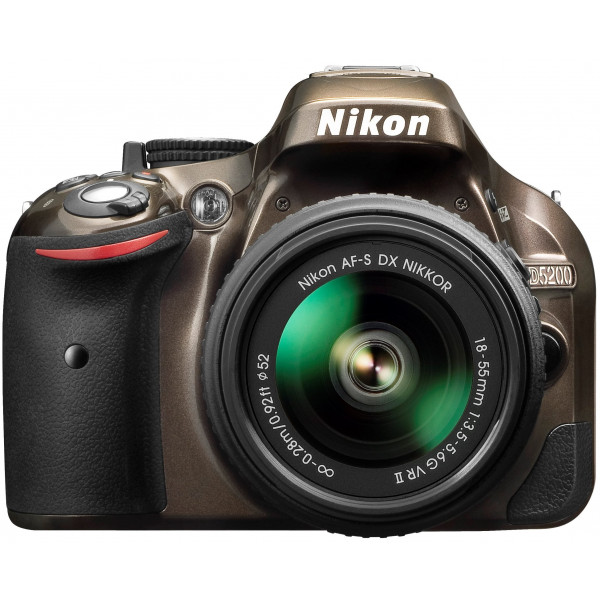 Nikon D5200 SLR-Digitalkamera (24,1 Megapixel, 7,6 cm (3 Zoll) TFT-Display, Full HD, HDMI) Kit inkl. AF-S DX 18-55 VR II Objektiv bronze-36