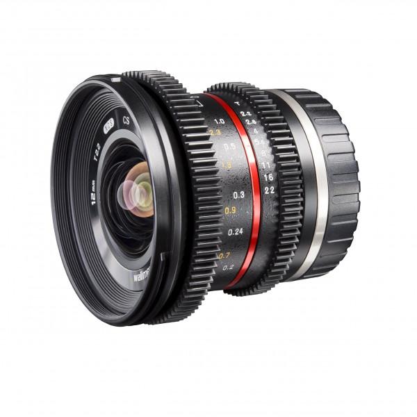 Walimex Pro 12mm 1:2,2 VCSC-Weitwinkelobjektiv für Canon M Objektivbajonett (MC Linsen/Nano Coating, Zahnkranz, stufenlose Blende/Fokus, abnehmbare Gegenlichtblende) schwarz-34
