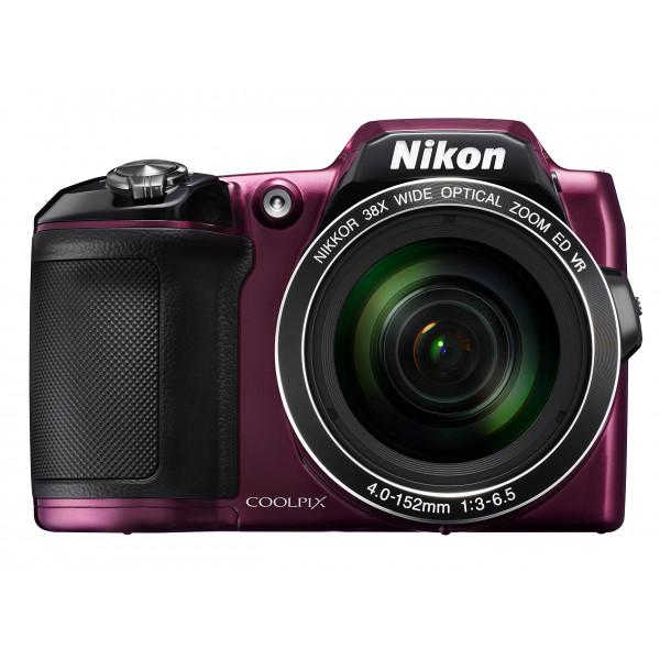 Nikon Coolpix L840 Digitalkamera (16 Megapixel, 38-fach opt. Zoom, 7,6 cm (3 Zoll) LCD-Display, USB 2.0, bildstabilisiert) aubergine-311