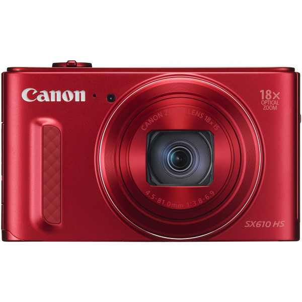 Canon PowerShot SX610 HS Digitalkamera (20,2 Megapixel CMOS, HS-System, 18-fach optisch, Zoom, 36-fach ZoomPlus, opt. Bildstabilisator, 7,5 cm (3 Zoll) Display, Full HD Movie, WLAN, NFC) rot-39