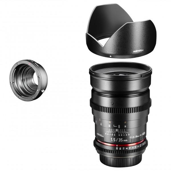 Walimex Pro 35mm 1:1,5 VCSC Foto und Videoobjektiv (Filtergewinde 77mm) für Pentax Q Objektivbajonett schwarz-36