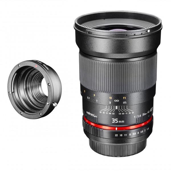 Walimex Pro 35mm 1:1,4 CSC-Objektiv (Filtergewinde 77mm, Gegenlichtblende, IF, AS-Linsen) für Pentax Q Objektivbajonett schwarz-39
