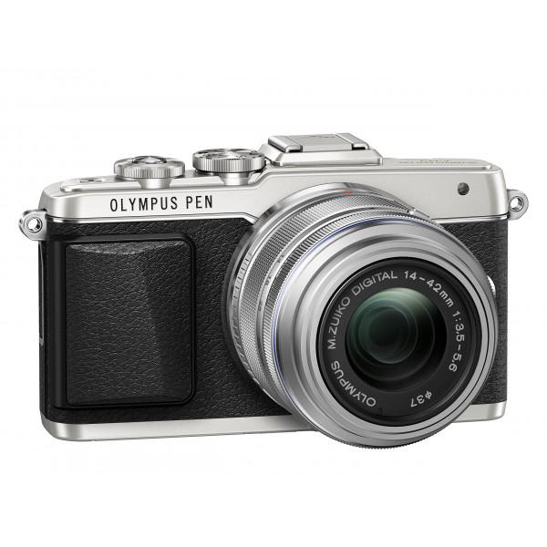 Olympus PEN E-PL7 Kompakte Systemkamera (16 Megapixel, elektrischer Zoom, Full HD, 7,6 cm (3 Zoll) Display, Wifi) inkl. 14-42 mm Objektiv silber/silber-37
