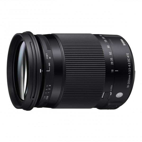 Sigma 18-300/3,5-6,3 DC Makro OS HSM Objektiv (Filtergewinde 72mm) für Sigma Objektivbajonett schwarz-37