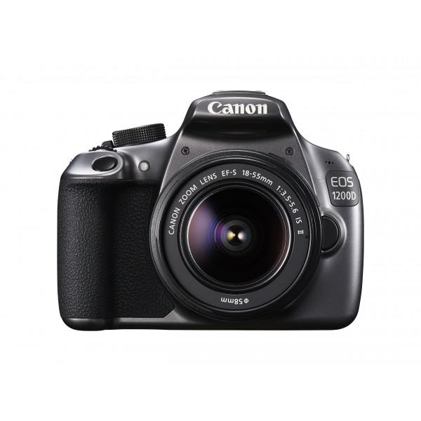 Canon EOS 1200D Spiegelrefexkamera mit EF-S 18-55 IS II Objektiv grau-34