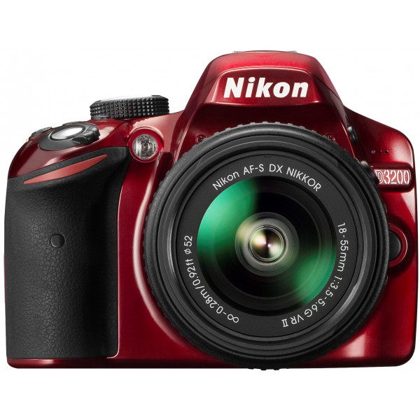 Nikon D3200 SLR-Digitalkamera (24 Megapixel, 7,4 cm (2,9 Zoll) Display, Live View, Full-HD) Kit inkl. AF-S DX 18-55 VR II Objektiv rot-36
