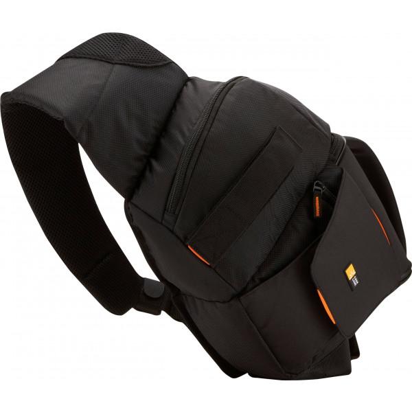 Case Logic SLRC205 SLR Slingbag S Kamerarucksack mit einstellbarem Schultergurt (für Spiegelreflex) schwarz/orange-39