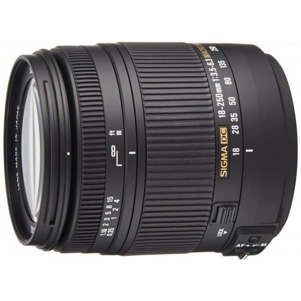 Sigma 18-250 mm F3,5-6,3 DC Macro OS HSM Objektiv (62 mm Filtergewinde) für Sigma Objektivbajonett-33