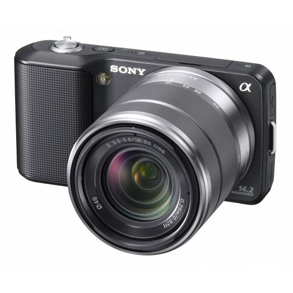 Sony NEX-3KB Systemkamera (14 Megapixel, Live View, HD Videoaufnahme) Kit schwarz inkl. 18-55mm Objektiv-35