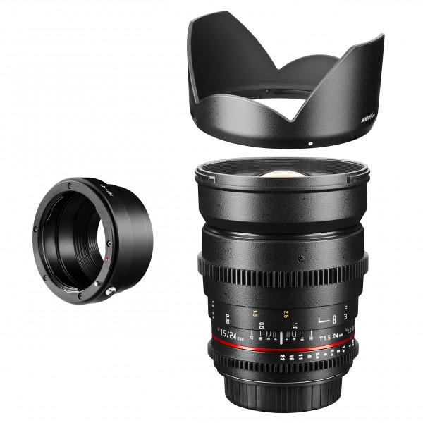 Walimex Pro 24 mm 1:1,5 VCSC Foto und Videoobjektiv (inkl. Filtergewinde 77mm, Gegenlichtblende, Zahnkranz, stufenlose Blende und Fokus) für Nikon 1 Objektivbajonett schwarz-36