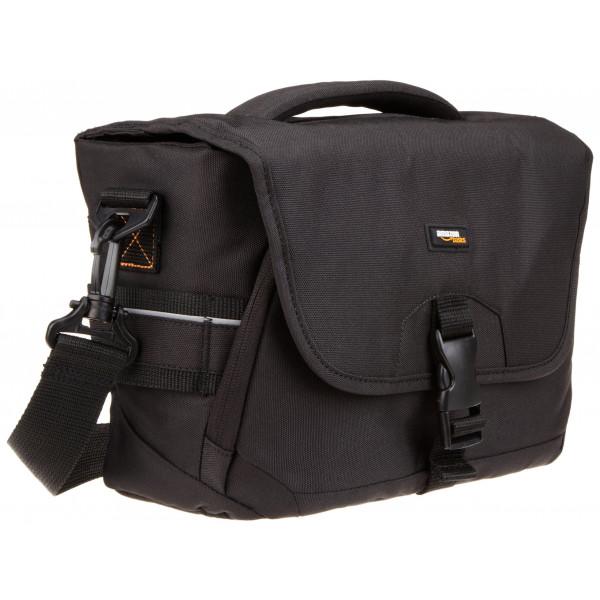 AmazonBasics Kameratasche für DSLR-Kamera und Zubehör (oranges Interieur) Medium-37