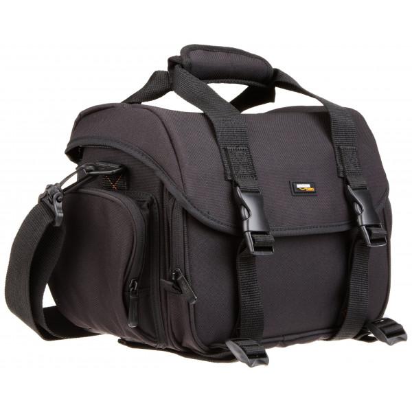 AmazonBasics Digital-Spiegelreflex-Kameratasche (groß, orangefarbenes Innenfutter)-38