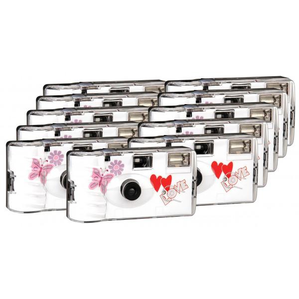 TopShot Love Hearts red Einwegkamera / Hochzeitskamera (27 Fotos, Blitz, 9+2 Pack)-31