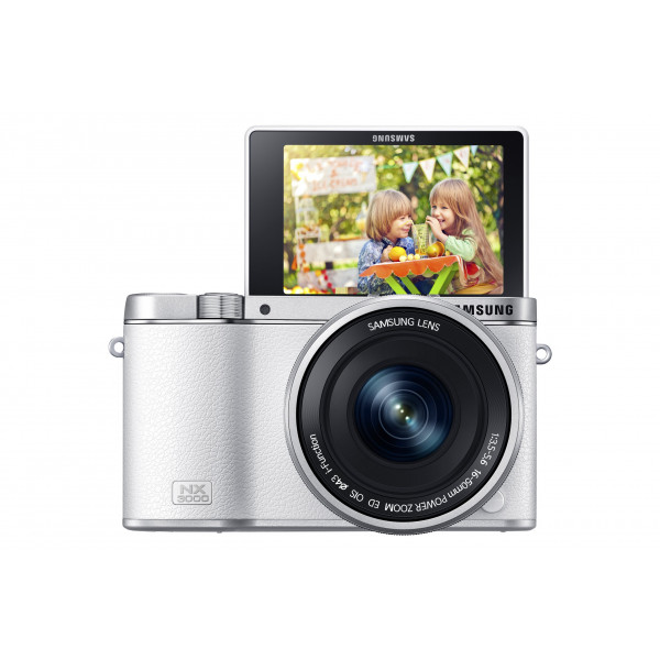 Samsung NX3000 Smart Systemkamera (20,3 Megapixel, 7,5 cm (3 Zoll) Display, Full HD Video, WIFi, NFC, Adobe Photoshop Lightroom 5, inkl. 16-50 mm OIS i-Function Power-Zoom-Objektiv) weiß-311