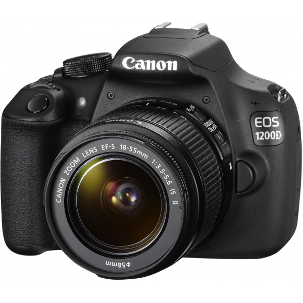 Canon EOS 1200D SLR-Digitalkamera (18 Megapixel, 7,5 cm (3,0 Zoll) Display) Kit inkl. 18-55mm IS Objektiv + 16GB Eye-Fi Speicherkarte schwarz-310